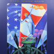 US Open 2003 poster on display at Billie JeKing National Tennis Center — 图库照片 #36482533