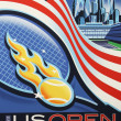 US Open 2011 poster on display at the Billie Jean King National Tennis Center — 图库照片