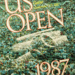 US Open 1987 poster on display at the Billie Jean King National Tennis Center — Stok fotoğraf