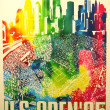 US Open 1995 poster on display at Billie JeKing National Tennis Center — Stok Fotoğraf #36482549