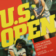 US Open 1983 poster on display at the Billie Jean King National Tennis Center — Стоковая фотография