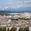 Aerial view of Lyon from Fourviere Hill — Stock Photo