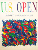 US Open 1992 poster on display at the Billie Jean King National Tennis Center — Fotografia Stock
