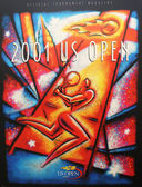 US Open 2001 poster on display at the Billie Jean King National Tennis Center — Stockfoto