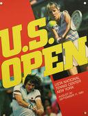 Oss öppna 1983 affisch på displayen på billie jean king national tenniscenter — Stockfoto