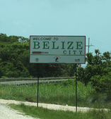 Welcome to Belize City sign — Стоковое фото