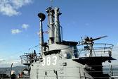 USS Pampanito, a Balao-class diesel-electric submarine earned six battle stars for World War II service — Stock Photo