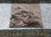 Coast Guard 3D relief art sculpture in San Francisco — Stockfoto