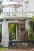 Moai statue in the front of Museo Fonck in Vina Del Mar, Chile — 图库照片