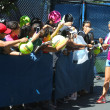 Stock Photo: Two times Grand Slam champion VictoriAzarenksigning autographs after practice for US Open 2013