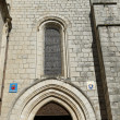 Stock Photo: Entrance to Basilicof St-Saveur in Rocamadour, France