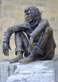 The Badaud statue by Gerard Auliac at the Freedom Square in Sarlat, France — Stock Photo