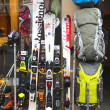 Skiing gear in alpine store in Chamonix, France — Stock Photo #37307693