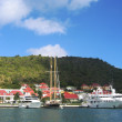 Stock Photo: GustaviHarbor with megyachts at St Barts, French West Indies