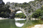 Vallon Pont d'Arc, a natural Arch in the Ardeche, France — Stock Photo