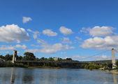Saint Martin Suspension Bridge in Ardeche , France — Stock Photo