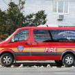 Stock Photo: FDNY fire family transport foundation vin Brooklyn