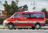The FDNY fire family transport foundation van in Brooklyn — Stock Photo