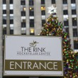 Entrance to ice-skating rink at the Lower Plaza of Rockefeller Center in Midtown Manhattan — Stock Photo #37734509