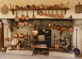 The Ancient Kitchen at Chateau de Pommard winery in France — Stock Photo