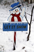 Let it snow sign — Stock Photo