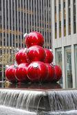 Christmas decorations near New York City landmark Radio City Music Hall — Φωτογραφία Αρχείου