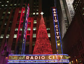 New York City landmark Radio City Music Hall in Rockefeller Center — Stock Photo