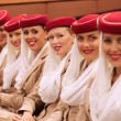 Emirates Airline flight attendants at Billie JeKing National Tennis Center during US Open 2013 — Stock Photo #37772513