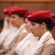 Stock Photo: Emirates Airline flight attendants at Billie JeKing National Tennis Center during US Open 2013