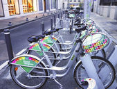Velopop bicycle sharing station in Avignon, France — Stock Photo