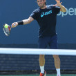 Stock Photo: Professional tennis player Tommy Haas from Germany practices for US Open 2013