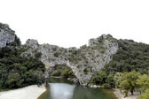 Vallon Pont d Arc, a natural Arch in the Ardeche, France — Stock Photo
