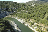 Ardeche Gorge in Rhone-Alpes region of France — Stock Photo