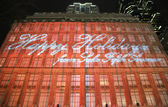 Macy's Christmas Light Show near Rockefeller Center in Midtown Manhattan — Stock Photo