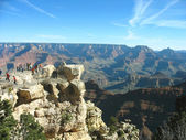 Viewing platform at the Great Canyon in Arizona — Stok fotoğraf