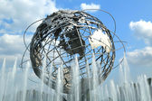 1964 New York World's Fair Unisphere in Flushing Meadows Park, New York — Stock Photo