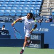Professional tennis player Janko Tipsarevic practices for US Open 2013 at Billie Jean King National Tennis Center — Stock Photo #37992667