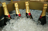 Moet and Chandon champagne presented at the National Tennis Center during US Open 2013 — Stock Photo