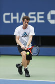 Two times Grand Slam champion Andy Murray practices for US Open 2013 at Billie Jean King National Tennis Center — Stock Photo