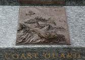 Coast Guard 3D relief art sculpture in San Francisco — Stock Photo