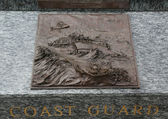 Coast Guard 3D relief art sculpture in San Francisco — Stock Photo