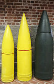 Artillery Projectiles: 10-inch, 12-inch and 16-inch Armor Piercings — Stock Photo