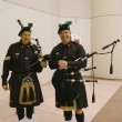 Stock Photo: Bagpipers from NYPD Emerald Society in New York