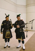 Bagpipers from NYPD Emerald Society in New York — Stock Photo
