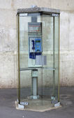 Old street phone in Lyon — Stock Photo