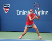 Grand Slam champion Petra Kvitova during first round match at US Open 2013 against Misaki Doi at Billie Jean King National Tennis Center — Stockfoto