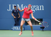 Grand Slam champion Petra Kvitova during first round match at US Open 2013 against Misaki Doi at Billie Jean King National Tennis Center — Stock Photo
