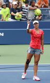 Grand Slam Champion Na Li after wining first round match at US Open 2013 against Olga Govortsova at Billie Jean King National Tennis Center — Stock Photo