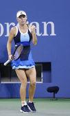 Professional tennis player Caroline Wozniacki during third round match at US Open 2013 against Camila Giorgi at Billie Jean King National Tennis Center — Stock Photo