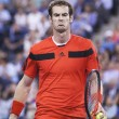 Постер, плакат: Two times Grand Slam champion Andy Murray during fourth round match at US Open 2013 against Denis Istomin at Arthur Ashe Stadium